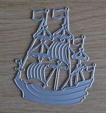 Taglio in metallo Die-Grande Nave Pirata Barca Vela Ahoy (Boy)