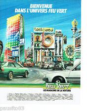 PUBLICITE ADVERTISING 056  1983   Feu vert  magasins dela voiture  batterie huil