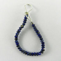 Lapis Lazuli 3mm Round Faceted 3.5 Inch Handmade Beads Jewelry ER7291