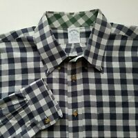 Brooks Brothers 1818 Mens Plaid Button Front L/S Casual Shirt Size XL C308