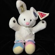 """Dakin Cuddle Toy Busy Bunny Rabbit Learn Tie Zip Snap Plush Soft Toy Tags 12"""""""