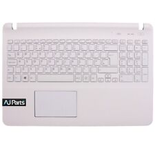 Replacement For SONY VAIO SVF1521F6EW White Palmrest Top Case + UK Keyboard