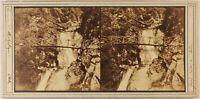 Germania Granducato Da Bagno Cascade Allerheiligen c1860 Foto Stereo Albumina