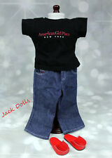 American Girl Doll Place New York City Outfit T Shirt Jeans Shoes