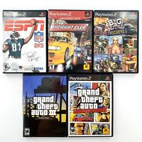 Sony PlayStation 2 Complete Games Lot Of 5 GTA III, Liberty City, Midnight Club