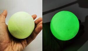 Big Moon shine Night Pearl Thai Amulet Luminous Fluorescent Glow in dark Stone