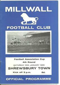 1965 Millwall v Shrewsbury Town [FAC]