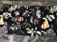 Country Curtains Valance, Black Fruit Pattern, 76�Wide (2) Available