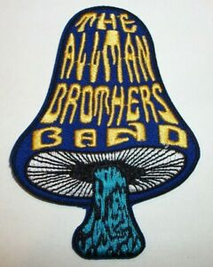 """Allman Brothers Band Mushroom Patch~Embroidered~3 1/2"""" x 2 1/2""""~Iron or Sew on"""