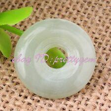 20mm Ring Donut Round Smooth Hua Show Jade Gemstone Pendant Spacer Beads 1 Pcs