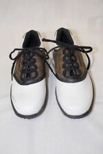 Footjoy Juniors Golf Shoes, White & Brown, # 45020, Youth 4M-B55