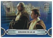 2019 Star Wars Chrome Legacy Blue Refractors 4 Obi-Wan Kenobi Qui-Gon Jinn 99/99