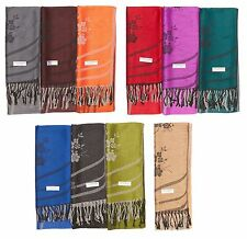 Wholesale LOT of 12 NEW Women Soft Silk Pashmina Shawl Stole Wrap scarf Cashmere