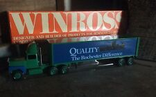 Vintage Die Cast Winross Collectible Advertising Tractor - Trailers , Rochester