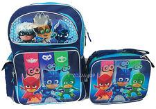 """PJ Masks Large School Backpack 16"""" & Lunch Bag 2 pc set Boy Bags Connor, Amaya"""