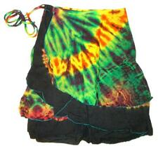 TIE DYE SHORT WRAP SKIRT  ONE SIZE  sarong beach grateful dead S M L hippie boho