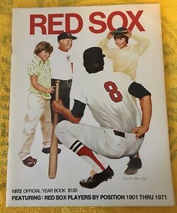 1972 Boston Red Sox Official Yearbook EX Condition Fenway Park Yastrzemsi