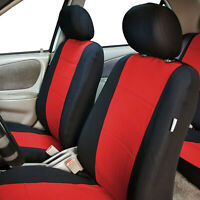 Universal Front Car Seat Covers 100% Waterproof Polyester/Neoprene Red Black