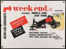 WEEK END / WEEKEND 1968 UK Quad Jean-Luc Godard Nouvelle Vague FilmArtGallery