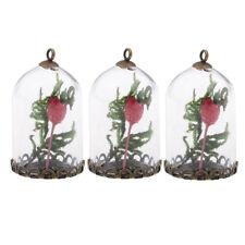 3x Moss Flower Glass Bottle Charms DIY Necklace Bracelet Earrings Pendants