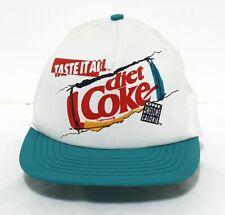 Diet Coke Taste It All One Awesome Calorie White & Teal 90s Snapback Trucker Hat