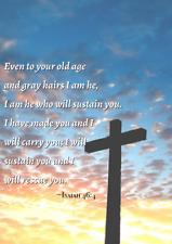 Printable Wall Art Bible Verse Isaiah 46:4 Home Decor Download Digital Image