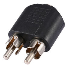 Female Jack to 2 RCA Male Plug F/M Stereo Linker Adapter Suit Airphone 3.5mm