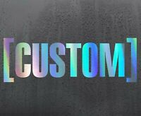 CUSTOM Chrome holographic vinyl sticker funny car decal JDM DUB bumper oil slick