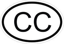 CC Autocollant OVAL CORPS CONSULAIRE Sticker Voiture Moto Caravane Pare-choc