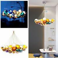Modern Hanging Pendant Light Fixture Bubble Glass Globe Living Dining Room Lamp
