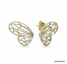 NEW/TAGS AUTHENTIC PANDORA SHINE™ EARRINGS OPENWORK BUTTERFLY EARRINGS #267955