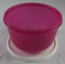Tupperware Clarissa Schüssel 2 l mit Deckel Pink Rosa Dunkel / Beige Weiß Neu