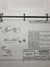 "(50ea) S4-225 Soutco DZUS .250"" Spring For 1/4 Turn Fasteners"