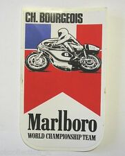 VECCHIO ADESIVO MOTO / Old Sticker CH. BOURGEOIS MARLBORO (cm 8 x 13)