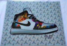 Keng Lau, Air Jordan 1, Kunstdruck / Print 3D Graffiti Art, 2016, handsigniert
