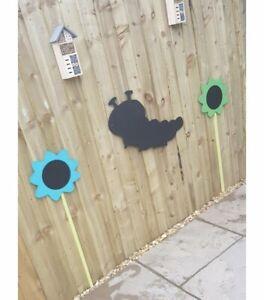 Children's Outdoor Caterpillar 🐛 Chalkboard Garden Handmade  School Nursery