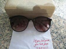 Esprit brown / white stripe frame sunglasses. With case. ET 17925.