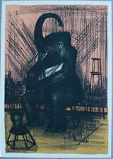 "Bernard BUFFET : ""L'Elephant du cirque "" LITHOGRAPHIE ORIGINALE # MOURLOT # 1968"