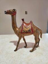 Antique Cast Iron Large Figural Toy Camel Still Bank Original Paint