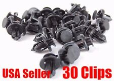 30 x Nylon Black Front Rear Bumper cover Push-Type Retainer Clip For Honda Acura