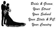 48 LARGE PERSONALISED WEDDING INVITATION RETURN ADDRESS LABEL STICKERS COUPLE