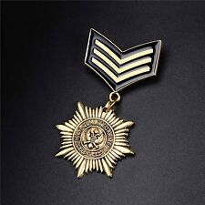 Gold Navy Army Lapel Brooch Pins Military Award Badge Women Men Gifts
