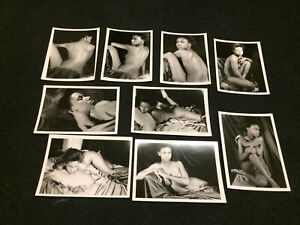 x9 Found Photo Lot Original Black African American Artistic Nude / Portrait 5x7