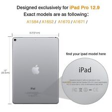 "STM iPad Pro Half Shell Case for 12.9"" - Clear NEW RRP £29.95"
