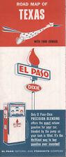 1961 El Paso Natural Gas Products Road Map: Texas NOS