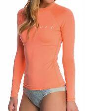 NEW Womens RIP CURL DAWN PATROL Long Sleeve UV Surf RASHGUARD Coral Pink - XS