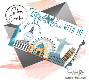 Scratch & Reveal Surprise Trip Hidden word Travel Card Holiday Card PERSONALISED
