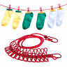 Pegless Travel Clothes Line Clothesline Washing Camping Hanging Airer Rope