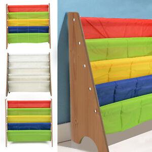 Wooden Bookcase Kids Book Shelf Rack Storage Bookshelf Tidy Organizer Toy Box UK