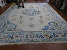 Old Chinese Rug 10x''14'6'' circa 1940s lovely carpet